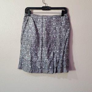 Ann Taylor Loft petites gray taylored skirt 4P